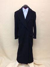Calvin Klein Black Double Breasted Ladies Top Coat - 100% Wool