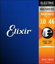 Elixir 12052 Electric Guitar Strings Nanoweb Light 10-46 Brand New 1 Pack Set