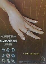 PUBLICITE MAUBOUSSIN JOAILLIER BIJOUX BAGUES MAIN DOIGTS DE 1973 FRENCH AD PUB
