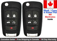 2x New Replacement Remote Key Fob Case For Chevy Buick GMC - Shell Case Only