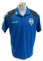 Adidas ClimaCool Blue MLS Seattle Sounders Short Sleeve Polo Shirt Men's XL NWT
