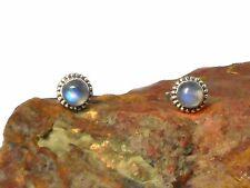MOONSTONE   Sterling  Silver  925  Gemstone  Earrings  / STUDS  -  5 mm