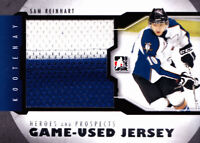 SAM REINHART 12/13 ITG GAME USED JERSEY #M-15 BLACK VERSION