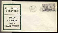 WWII PATRIOTIC -CHURCHILL DEFEATED 7/26/45 FIDELITY SHERMAN #4140