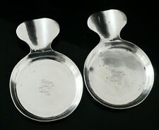 More details for pair sterling silver hand wrought ash trays, the kalo shop 20th century american