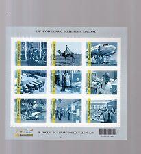 foglietto francobolli  anniversario  poste italiane 2012 9 valori-stock due fogl