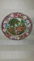 """Rural England"" W. R. Midwinter Ltd. Multi color 8"" Salad Plates made in England"
