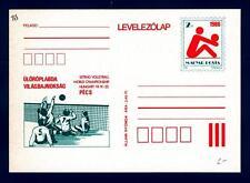 """HUNGARY - UNGHERIA - Cart. Post. - 1986 - Campionato del Mondo di """"Sitting Voley"""