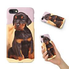 DOBERMAN DOG 5 BACK HARD CASE COVER FOR APPLE IPHONE