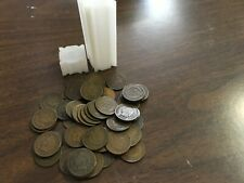 Roll of 50 Mixed Dates Indian Head Cent Pennies 1880's - 1909