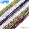 """Natural Genuine Assorted Stones Faceted Round Beads For Jewelry Making 15""""Strand"""