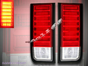 03-09 HUMMER H2 SUV RED LED TAIL LIGHTS REAR BRAKE LAMPS 2004 2005 2006 2007 08