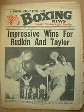 BOXING NEWS JUNE 18 1965 ALAN RUDKIN DEFEATS REY ASIS