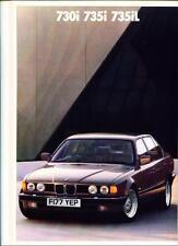 BMW 7 SERIES E32 SALES BROCHURE 1988 1989