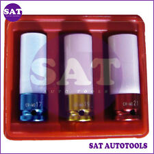 3pcs Rim Protective Wheel Socket Set 17mm, 19mm, 21mm