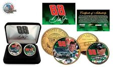 DALE EARNHARDT,JR. # 88 NASCAR 24 KARAT  Gold USA ,GREEN COLORIZED-duo coin set
