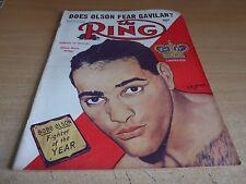 RIVISTA VINTAGE Boxe-L' ANELLO-MARZO 1954-BOBO Olson.
