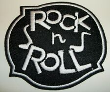 """Rock 'n Roll Music Patch Embroidered Applique~3"""" x 2 1/2""""~US Seller~Ships FREE"""