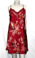 M & S Rosie For Autograph Floral Print Satin Chemise Slip Pyjamas Pjs Nightdress