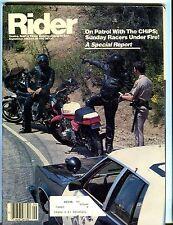 Rider Magazine September 1982 CHiPS Report EX w/ML 050917nonjhe