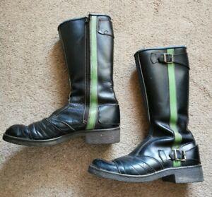 Leather Motorbike Boots UK 7.5