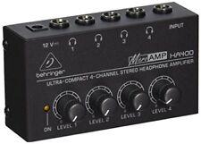 Behringer HA400 MicroAMP 4-Channel Stereo Headphone Amplifier HA-400 Amp NEW
