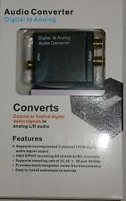 AUDIO CONVERTISSEUR DIGITAL / ANALOG COAXIAL OR TOSLINK TO ANALOG RCA STEREO