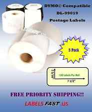 3 Rolls Postage Labels Paypal Ebay Dymo Compatible Internet Postage Tag 99019