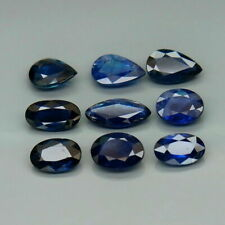 5.58 Carats 9pcs Natural UNHEATED Blue SAPPHIRE Mix Shape for Jewelry Setting