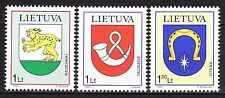 LITHUANIA 2000 **MNH SC#  677 - 679  Coat of Arms