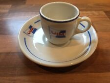 Union Industrielle Maritime: coffee cup and saucer by Pillivuyt Marine Nautical