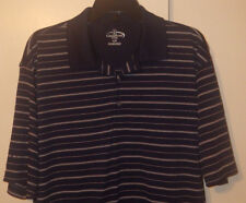 Champions TOUR Men's Navy Striped Golf Polo Shirt Size Large Short Sleeve