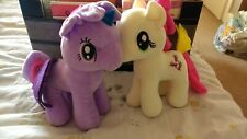 my little pony plush bundle Twilight Sparkle Purple And Fluttershy cream Clean