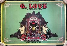 G Love and Special Sauce Fillmore Concert Poster February 2012 13x19
