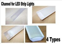 150mm Channel Trunking for LED strip lights PVC or Aluminium with cover 4 types