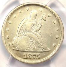 1875-P Twenty Cent Coin 20C - PCGS Fine Details - Rare Date 1875 Coin!