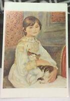 Postcard Animal Cat Enfant au Chat Auguste Renoir - posted