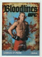 Georges St-Pierre 2009 Topps UFC Bloodlines Rookie Year Insert Card #BL5 GSP RC