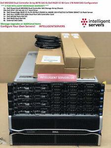 Dell MD3260 DC Array 80TB SAS 4x Dell R620 V2 80 Cores 1TB RAM DAS Configuration