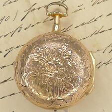 Goldene Prunk Repusse Spindeltaschenuhr 1/4 Repetition J. F. Brand à Paris 1790