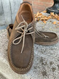 Clarks Beeswax Wallabees Brown Leather Loafers Mens 8.5M