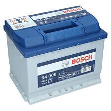 PKW Autobatterie 12 Volt 60 Ah Bosch S4 006 Starterbatterie ersetzt 55Ah 65Ah