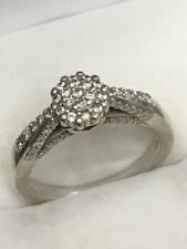 Kenneth David Diamond Ring Sterling Silver 925 womens halo pure love hearts real