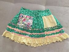 Baby Girl Skirt Beetlejuice Size 3T Ruffles Green Pink White Puffy Lace