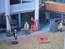 Kibri-Walthers HO Contractor Tools Mixer/Barrow/Shack/Bench  38140 (2 PHOTOS)