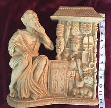 VTG MID CENTURY SCULPTURE, ASIAN OPIUM PEDDLER ITALY, AMAZING DETAIL, 12 POUNDS