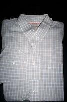 NWT $50 DOCKERS Soft No Wrinkle Long Sleeve Shirt Buttondown-tan plaid-large