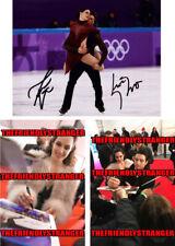 "TESSA VIRTUE & SCOTT MOIR signed ""2018 OLYMPICS"" 8X10 PHOTO F - PROOF - Gold COA"