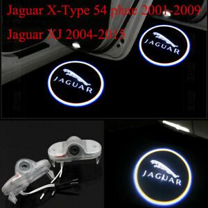 2 LED Jaguar Logo Door Courtesy Welcome Shadow Projector Lights For XJ 2010-2019