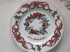 Noble Excellence 12 Days of Christmas Salad Plate -4 Calling Birds